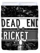 Cr - A Street Sign Named Cricket Duvet Cover