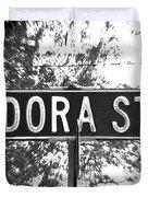 Do - A Street Sign Named Dora Duvet Cover