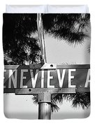 Ge - A Street Sign Named Genevieve Duvet Cover