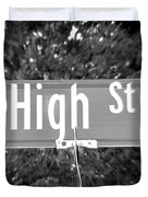 Hi - A Street Sign Named High Duvet Cover