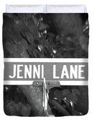 Je - A Street Sign Named Jenni Duvet Cover