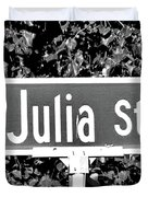 Ju - A Street Sign Named Julia Duvet Cover