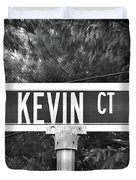 Ke - A Street Sign Named Kevin Duvet Cover