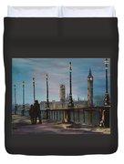 An Evening Stroll Along The Thames  Duvet Cover