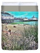 A Stroll At The Seaside  Duvet Cover