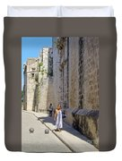 A Stroll By The Cathedral Duvet Cover