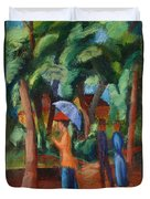 A Stroll In The Park Duvet Cover