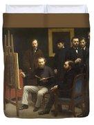 A Studio At Les Batignolles 1870 Duvet Cover
