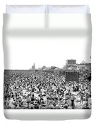 A Summer Day At Coney Island Duvet Cover