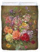 A Summer Floral Arrangement Duvet Cover