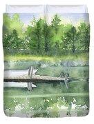 A Summer Pond Duvet Cover