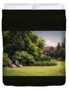 A Summer Sitting Place Duvet Cover