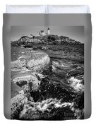 A Summer's Day At Nubble Light, York, Maine  -67969-bw Duvet Cover