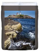 A Summer's Day At Nubble Light, York, Maine  -67969 Duvet Cover