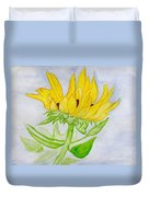 A Sunflower Blessing Duvet Cover