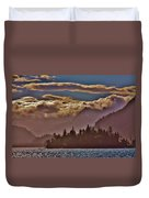 A Sunny Day On The Kachemak Bay Duvet Cover