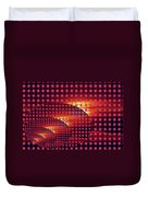 A Sunset In Weave Duvet Cover