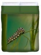 A Swallowtail Butterfly Caterpillar Duvet Cover