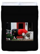 A Swiss Cow In New Glarus Wi Duvet Cover