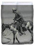 A Texas Pony Duvet Cover