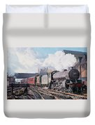 A 'thompson' B1 Class Moving Empty Stock On A Cold February Morning Duvet Cover by David Nolan