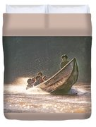 A Tigertail Boat On The Ping River Duvet Cover