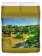 A Time Gone By Railroad Bridge Lumber City Georgia Duvet Cover