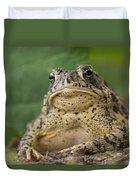 A Toad Appears To Be Frowning He Sits Duvet Cover