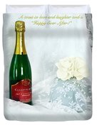 A Toast To Love And Laughter Duvet Cover