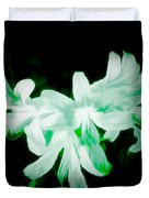 A Touch Of Green On The Lilies Duvet Cover