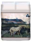 A Tough Horse  Duvet Cover