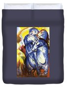 A Tower Of Blue Horses Duvet Cover