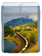 A Train Of Golden Grain  Duvet Cover