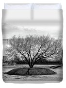 A Tree In Fort Worth Duvet Cover