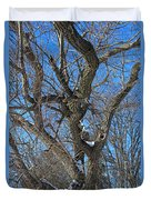 A Tree In Winter- Vertical Duvet Cover