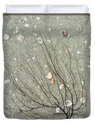 A Tree On The Beach - Sea Weed And Shells Duvet Cover