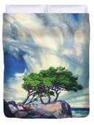 A Tree On The Seashore Reef Duvet Cover