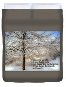 A Tree Shows Its Strength And Beauty Duvet Cover