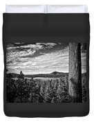 A Tree Stands Guard Over Big Bear Lake Duvet Cover