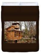 A Treehouse For All Seasons Duvet Cover