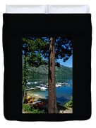 A Trees View Of Fallen Leaf Lake Duvet Cover
