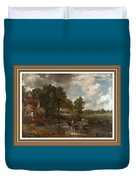 A Tribute To John Constable Catus 1 No. 1 -the Hay Wain L B With Alt. Decorative Ornate Frame. Duvet Cover