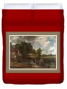 A Tribute To John Constable Catus 1 No.1 - The Hay Wain L A  With Alt. Decorative Ornate Printed Fr  Duvet Cover