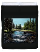 A Trip To The Mountains Duvet Cover