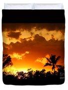 A Tropical Sunset Duvet Cover