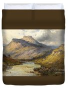 A Trout Stream Near Stirling Duvet Cover