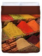 A Typical Set Of Shops In Istanbul Spice Market Duvet Cover