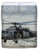A Uh-60 Blackhawk Helicopter Duvet Cover