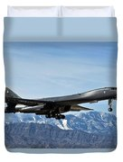 A U.s. Air Force B-1b Lancer Departs Duvet Cover by Stocktrek Images
