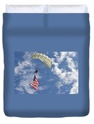 A U.s. Air Force Member Glides Duvet Cover